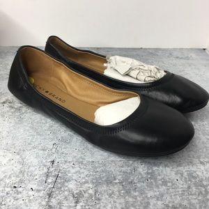 Lucky Brand Erin Black Flat Ballet Shoes Size 9M